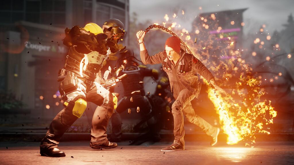 inFamous Second Son Fire Chain Attack