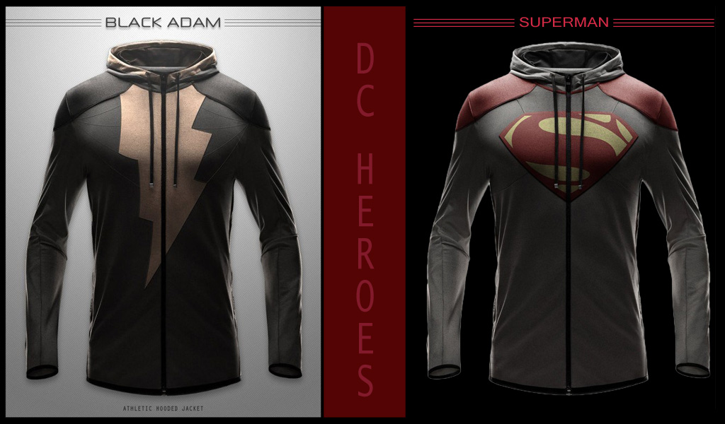 DC Heroes - Athletic Hoodies