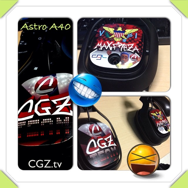Customized Astro A40 headset CGZ style :-) @MaXfReZa #cgzteam #cgz