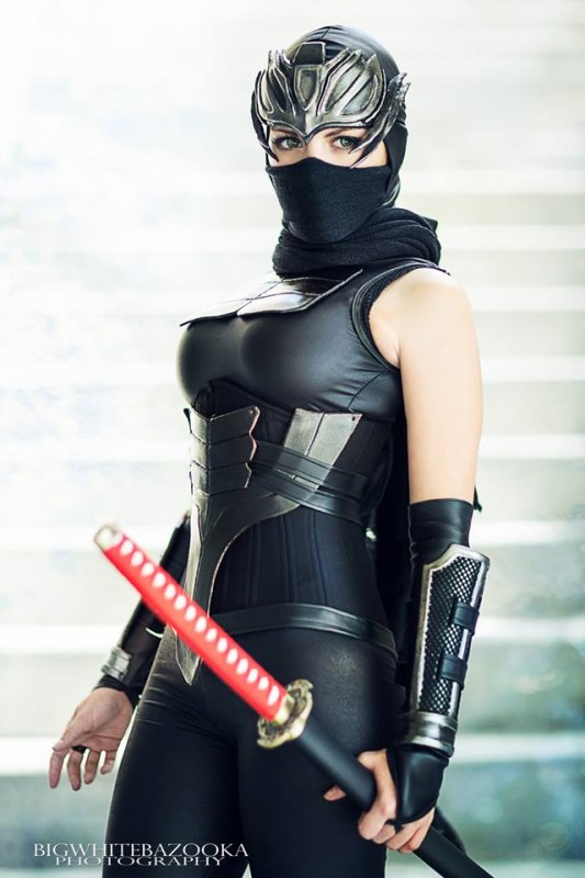 female ninja gaiden cosplayer Nadyasonika - by bigwhitebazooka