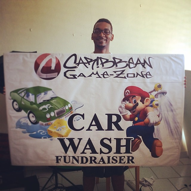 Dug up an old car wash poster - #MarioBros.