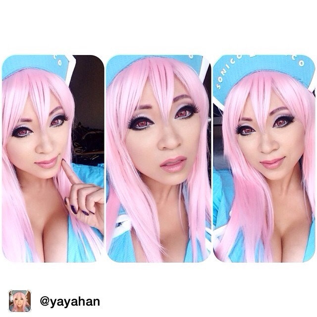 Repost from @yayahan via @igrepost_app, it's free! Use the @igrepost_app to save, repost Instagram pics and videos, Yay! Lots of #SuperSonico love today!! It's been an awesome fun and fast paced day at #Otakon!