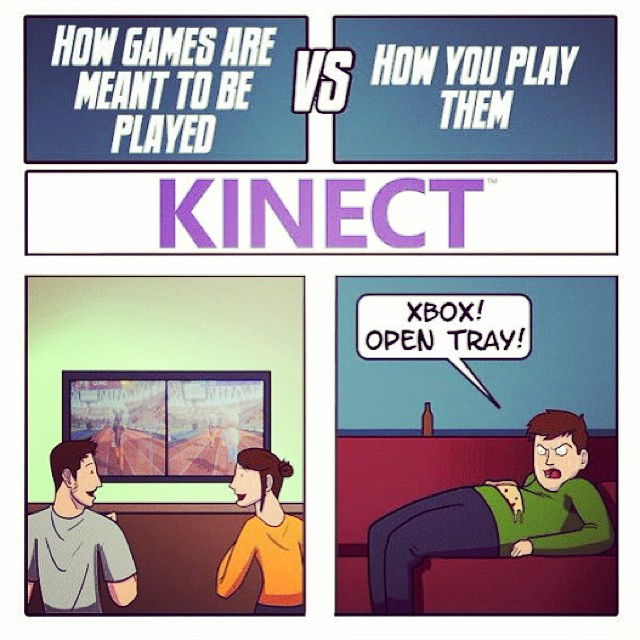 How games are meant to be played vs. How they are played. #XBoxOne #Kinect