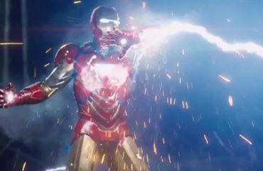 Avengers Assemble: Iron Man struck by Thor's lightning bolt