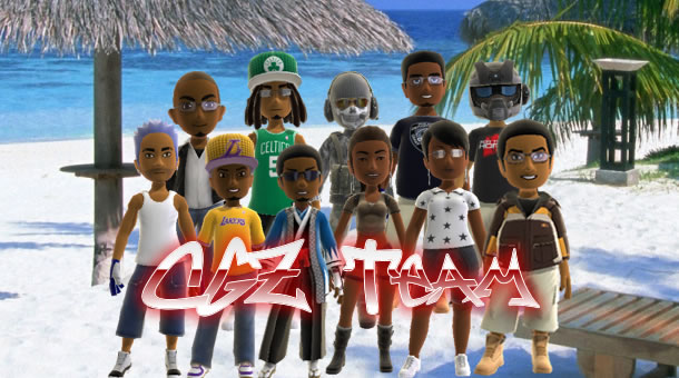 CGZ Team at the Beach (Avatars)