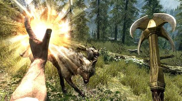 Elder Scrolls: Skyrim (cast a spell)
