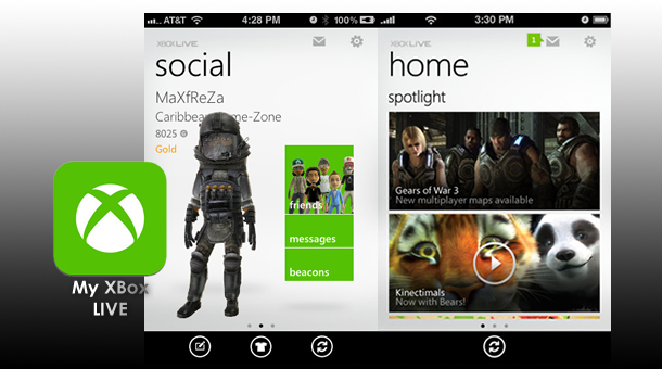 My Xbox Live - Apple iOS4+ App