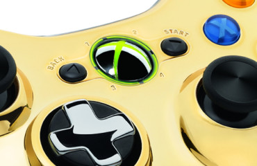 XBox 360 Gold Controller (close up)